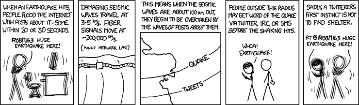 XKCD comic Seismic Waves