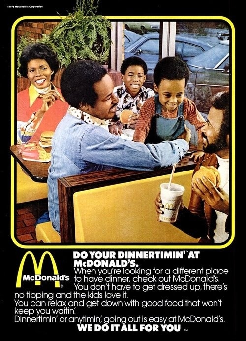 1976 urban ad for McDonald's