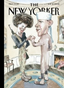 New Yorker satirical Obama cover