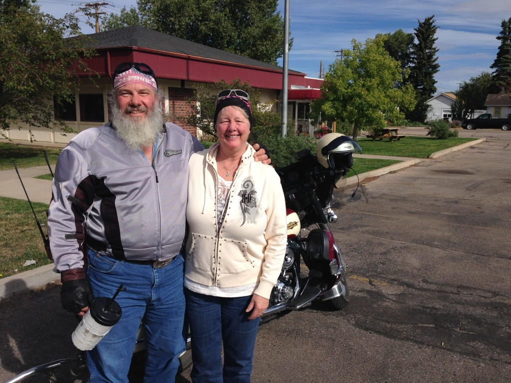 Jim and Linda with their Harley